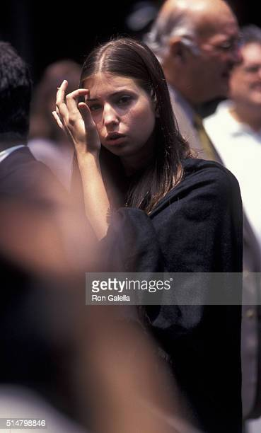 Ivanka Trump attends Fred Trump Funeral Service on June 29 1999 at Marble Collegiate Church in New York City