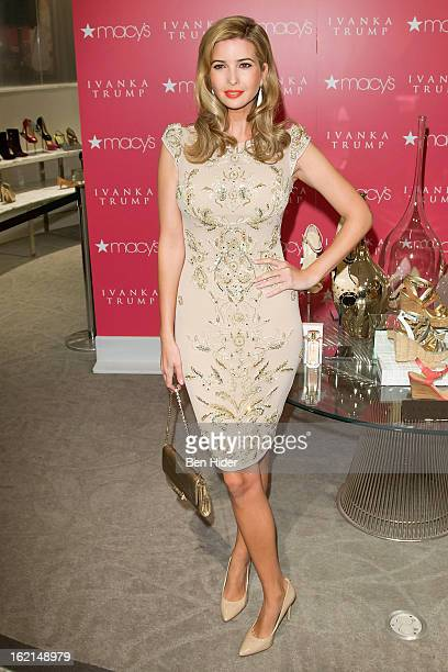 Ivanka Trump attends her fragrance launch at Macy's Herald Square on February 19 2013 in New York City