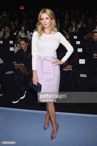 Ivanka Trump attends the Carolina Herrera fashion show during MercedesBenz Fashion Week Fall 2015 at The Theatre at Lincoln Center on February 16...