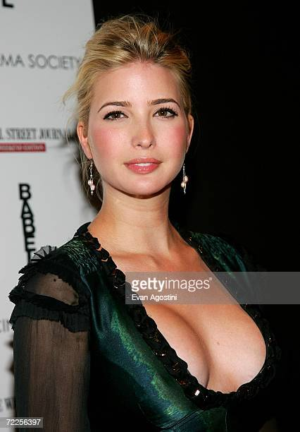 Ivanka Trump attends the Cinema Society and The Wall Street Journal Weekend Edition screening of Babel at the Soho Grand October 24 2006 in New York...