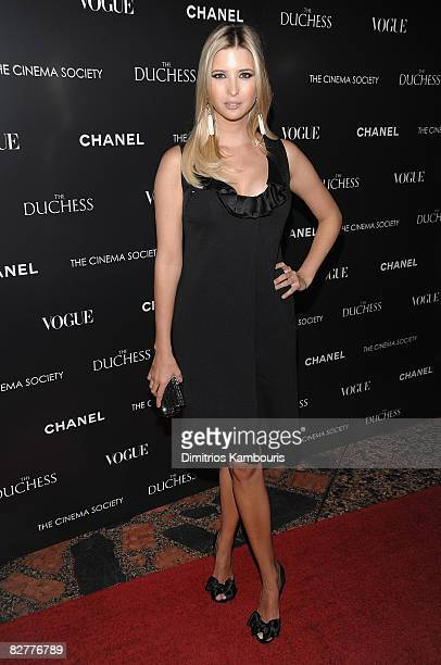 Ivanka Trump attends the Cinema Society with Chanel and Vogue's screening of The Duchess at the Public Theater on September 10 2008 in New York City