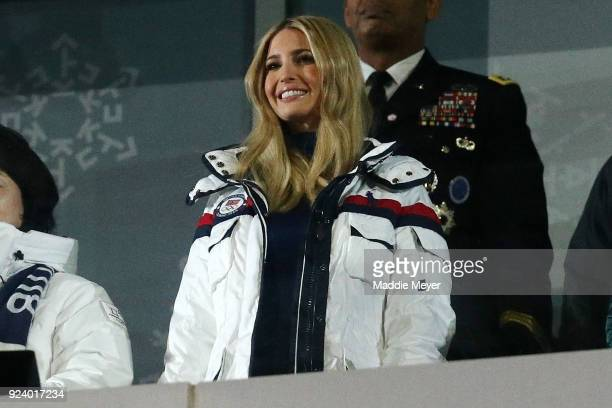 Ivanka Trump attends the Closing Ceremony of the PyeongChang 2018 Winter Olympic Games at PyeongChang Olympic Stadium on February 25 2018 in...