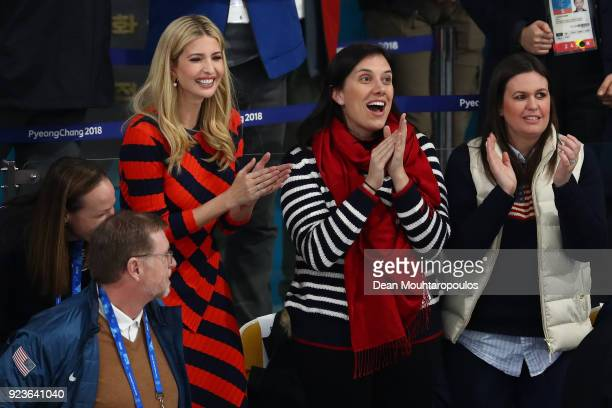 Ivanka Trump attends the Curling Men's Gold Medal game between United States and Sweden on day fifteen of the PyeongChang 2018 Winter Olympic Games...