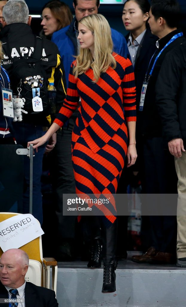 Ivanka Trump attends the Curling Men's Gold Medal Game between USA and Sweden on day fifteen of the PyeongChang 2018 Winter Olympic Games at Gangneung Curling Centre on February 24, 2018 in Gangneung, Pyeongchang, South Korea.