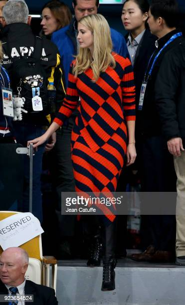 Ivanka Trump attends the Curling Men's Gold Medal Game between USA and Sweden on day fifteen of the PyeongChang 2018 Winter Olympic Games at...
