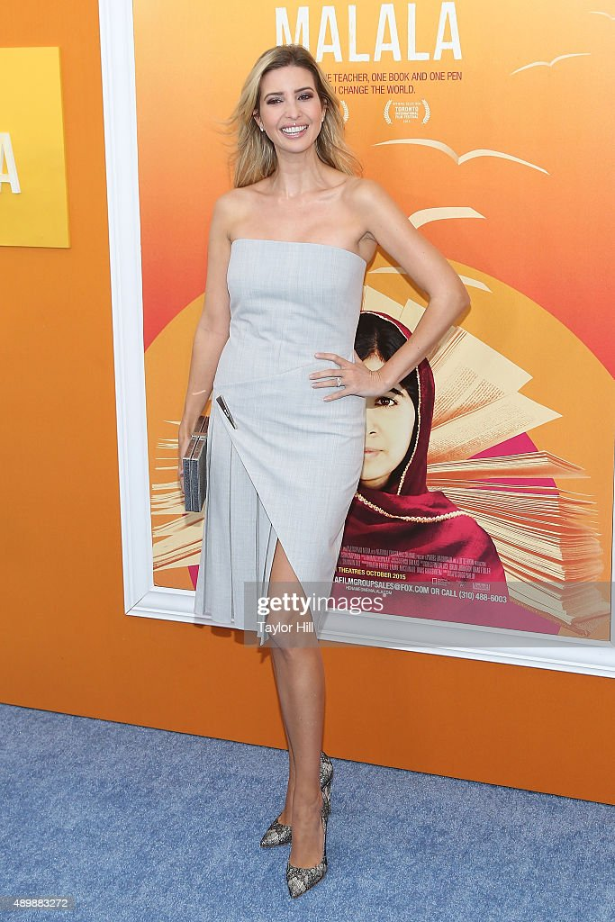 Ivanka Trump attends the 'He Named Me Malala' premiere at Ziegfeld Theater on September 24, 2015 in New York City.