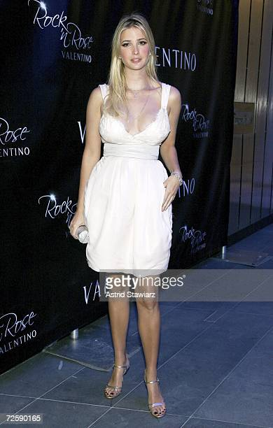 Ivanka Trump attends the launch of 'Rock'n Rose' Fragrance by designer Valentino on November 16 2006 in New York City