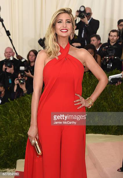 """Ivanka Trump attends the """"Manus x Machina: Fashion In An Age Of Technology"""" Costume Institute Gala at Metropolitan Museum of Art on May 2, 2016 in..."""