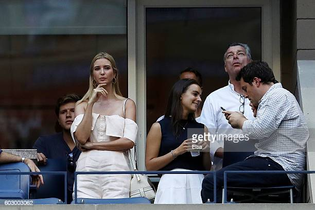 Ivanka Trump attends the Men's Singles Final Match between Novak Djokovic of Serbia and Stan Wawrinka of Switzerland on Day Fourteen of the 2016 US...