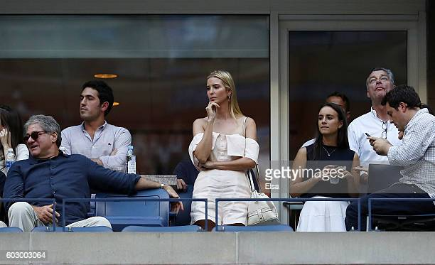 Ivanka Trump attends the Men's Singles Final Match between Novak Djokovic of Serbia and Stan Wawrinka of Switzerland on Day Fourteen of the 2016 US...