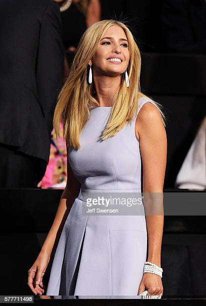 Ivanka Trump attends the roll call on the second day of the Republican National Convention on July 19 2016 at the Quicken Loans Arena in Cleveland...