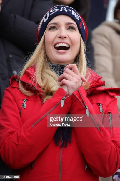 Ivanka Trump attends the Snowboard Men's Big Air Final on day 15 of the PyeongChang 2018 Winter Olympic Games at Alpensia Ski Jumping Centre on...