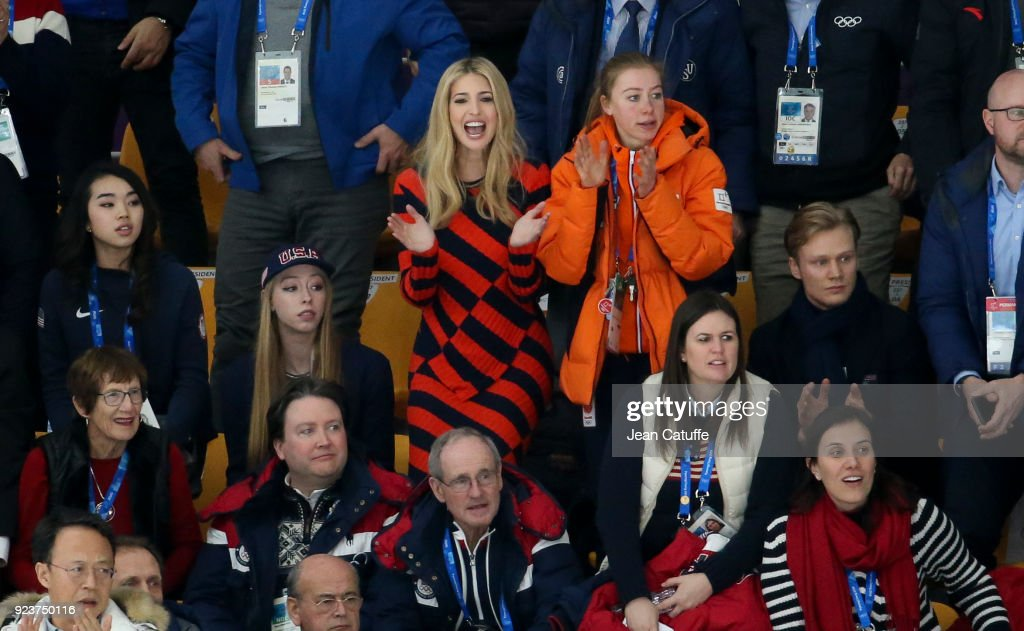 Ivanka Trump attends the Speed Skating Ladies' and Men's Mass Start on day fifteen of the PyeongChang 2018 Winter Olympic Games at Gangneung Oval on February 24, 2018 in Gangneung, Pyeongchang, South Korea.