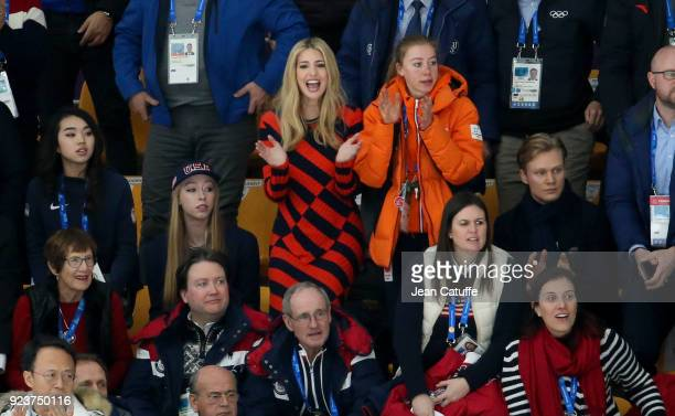Ivanka Trump attends the Speed Skating Ladies' and Men's Mass Start on day fifteen of the PyeongChang 2018 Winter Olympic Games at Gangneung Oval on...