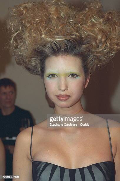 Ivanka Trump back stage at the fashion show
