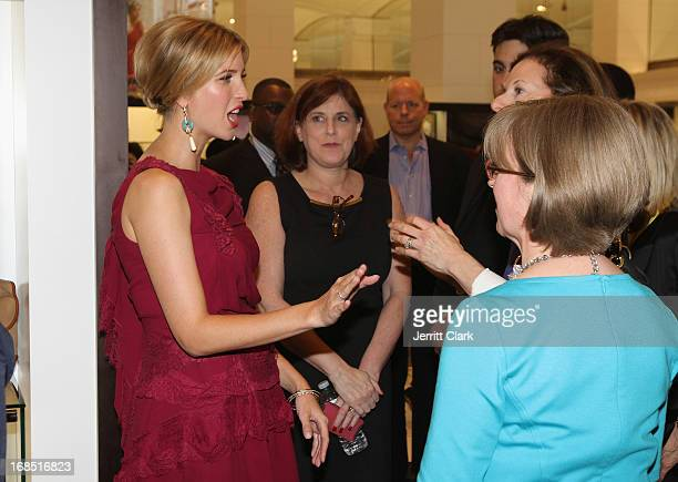 Ivanka Trump chats with guests at the Ivanka Trump Fragrance Launch at Lord Taylor on May 9 2013 in New York City
