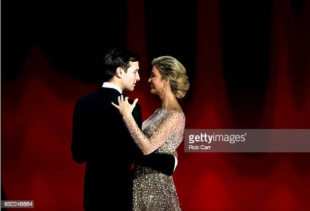 Ivanka Trump dances with husband Jared Kurshner at the Liberty Inaugural Ball on January 20 2017 in Washington DC The Liberty Ball is the first of...
