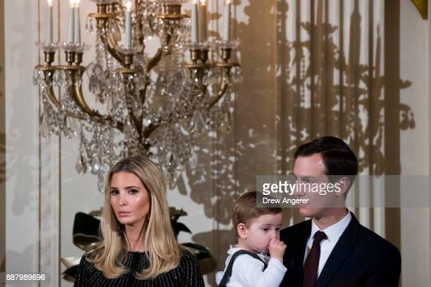 Ivanka Trump daughter and advisor to US President Donald Trump son Theodore Kushner and White House Senior Advisor to the President Jared Kushner...