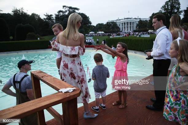 Ivanka Trump daughter and assistant to President Donald Trump and her children daughter Arabella Rose Kushner sons Joseph Frederick Kushner and...