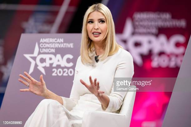 Ivanka Trump, daughter of and Senior Advisor to U.S. President Donald Trump, speaks at the Conservative Political Action Conference 2020 hosted by...