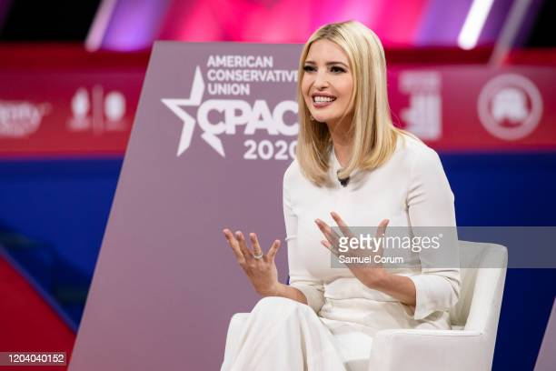 Ivanka Trump daughter of and Senior Advisor to US President Donald Trump speaks at the Conservative Political Action Conference 2020 hosted by the...