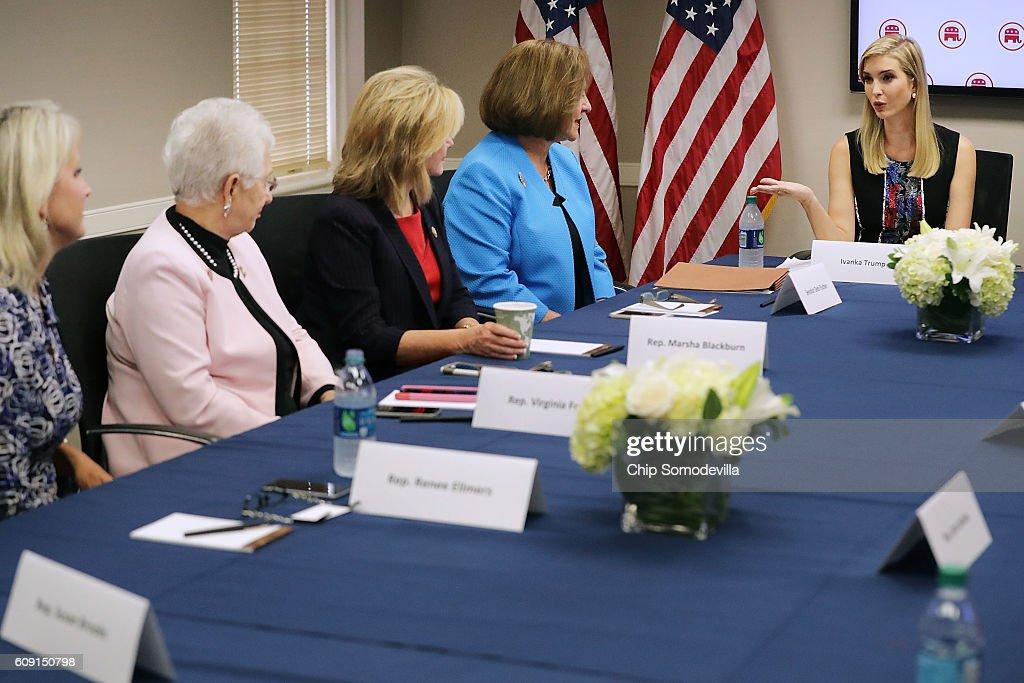 Ivanka Trump Visits RNC Headquarters In Washington DC