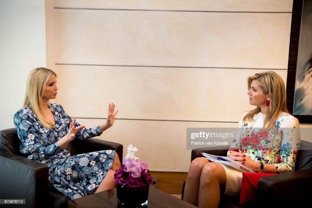 Ivanka Trump Attends W20 Conference In Berlin : Nieuwsfoto's