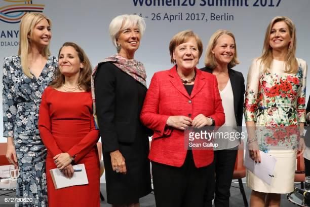 Ivanka Trump daughter of US President Donald Trump Canadian Minister of Foreign Affairs Chrystia Freeland International Monetary Fund Managing...