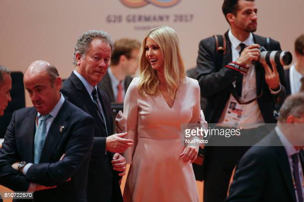 Ivanka Trump daughter of US president Donald Trump is seen ahead of the third plenary session of the G20 summit in Hamburg Germany on 8 July 2017