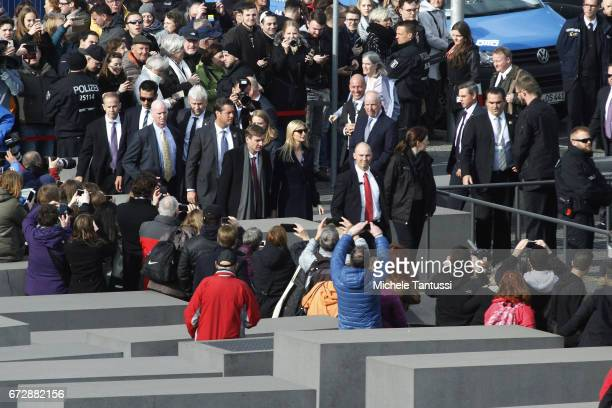 Ivanka Trump daughter of US President Donald Trump visits the Holocaust Museum on April 25 2017 in Berlin Germany Ivanka Trump attended the W20...