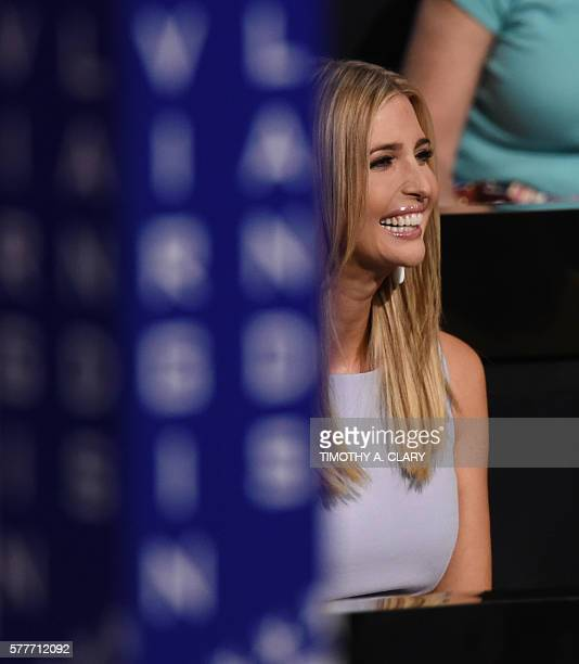 Ivanka Trump daughter of US Republican presidential candidate Donald Trump listens to proceedings on the second day of the Republican National...