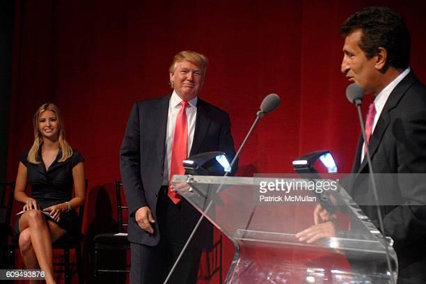 Ivanka Trump Donald Trump and Tevfik Arif attend TRUMP SOHO Press Conference at Trump Soho Construction Site on September 19 2007 in New York City