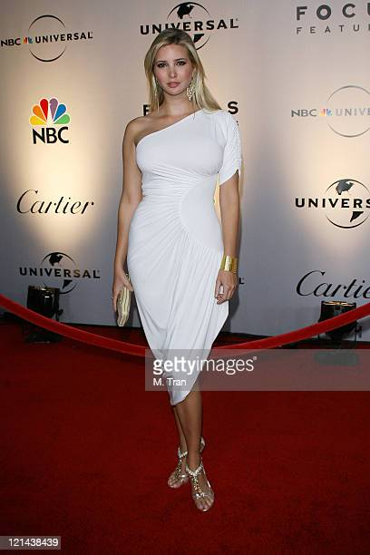 Ivanka Trump during NBC Universal Golden Globe After Party at Beverly Hilton Hotel in Beverly Hills Calfirnia United States