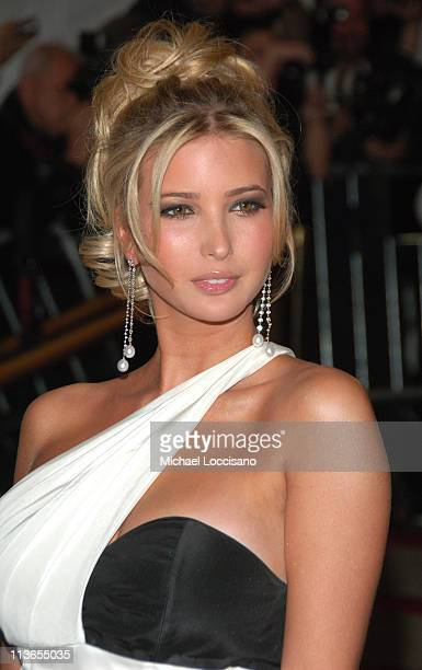 Ivanka Trump during 'Poiret King of Fashion' Costume Institute Gala at The Metropolitan Museum of Art Arrivals at Metropolitan Museum of Art in New...