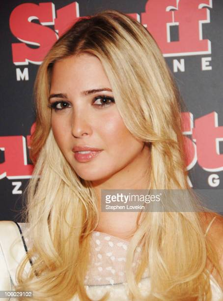 Ivanka Trump during Preview of 'Stuff's' September Fall Fashion Issue with Cover Model Ivanka Trump at Cafe Gray in New York City New York United...