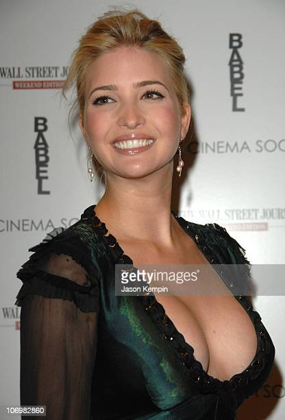 Ivanka Trump during The Cinema Society and The Wall Street Journal Weekend Edition Host a Screening of 'Babel' at Tribeca Grand Screening Room in New...