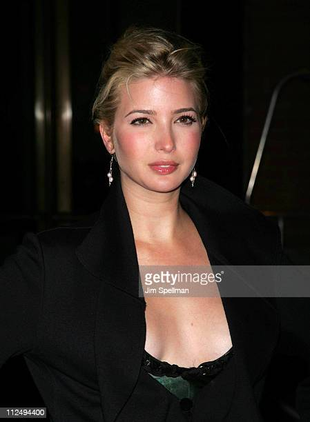 Ivanka Trump during The Cinema Society and The Wall Street Journal Weekend Edition Host a Screening of Babel Outside Arrivals at Tribeca Grand...