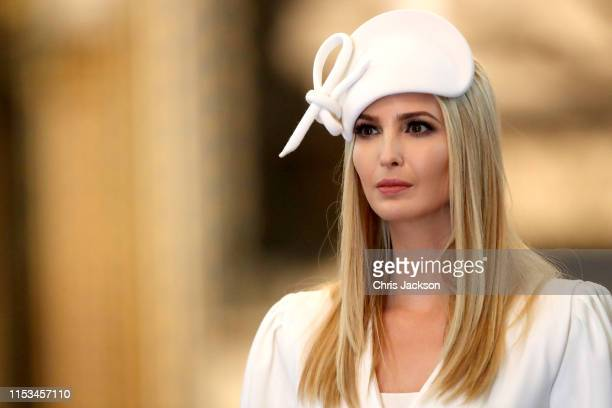 Ivanka Trump during the visit by US President Donald Trump and First Lady Melania Trump to Westminster Abbey on June 03 2019 in London England...