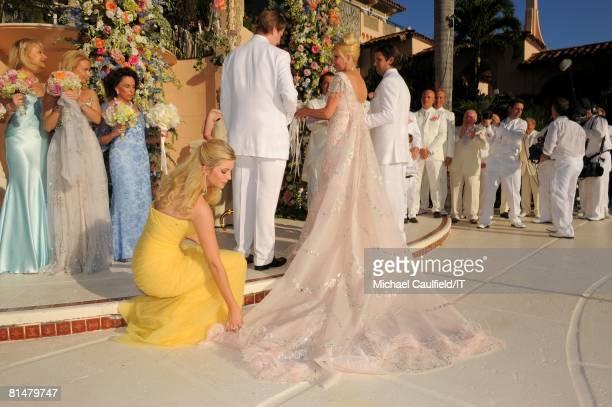 Ivanka Trump Eric Trump Ivana Trump and Donald Trump Jr during the wedding of Ivana Trump and Rossano Rubicondi at the MaraLago Club on April 12 2008...