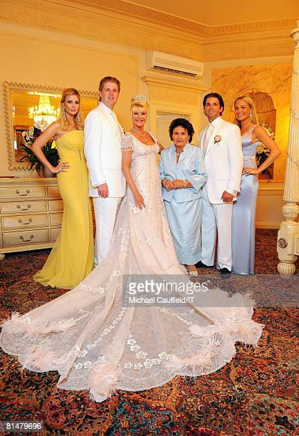 Ivanka Trump Eric Trump Ivana Trump Maria Zelnickoba Donald Trump Jr and Vanessa Trump before the wedding of Ivana Trump and Rossano Rubicondi at the...