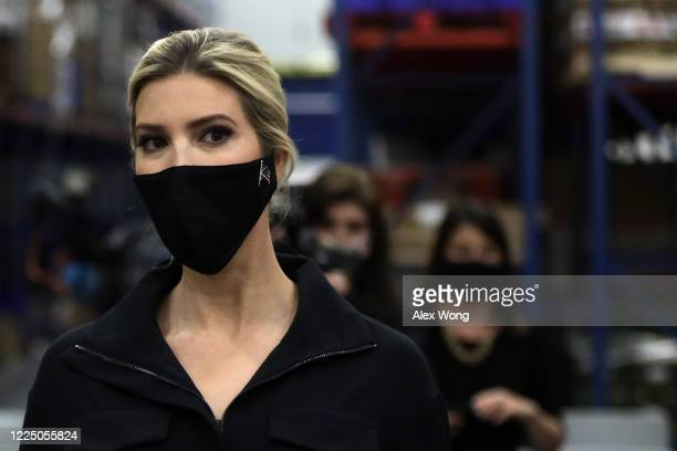 Ivanka Trump, first daughter and adviser to President Donald Trump, tours the distribution center of Coastal Sunbelt Produce May 15, 2020 in Laurel,...