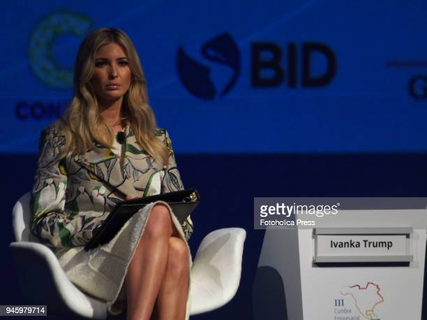 Ivanka Trump giving a conference in the framework of the VIII Summit of the Americas The event takes place on April 13rd and 14th 2018 at Lima Peru...