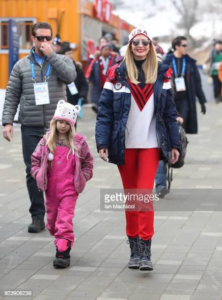 Ivanka Trump is seen at the Olympic Sliding Centre on February 25 2018 in Pyeongchanggun South Korea