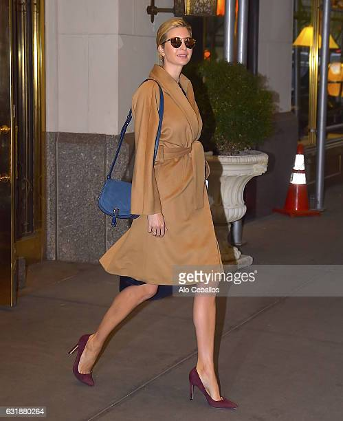 Ivanka Trump is seen in Midtown on January 17 2017 in New York City