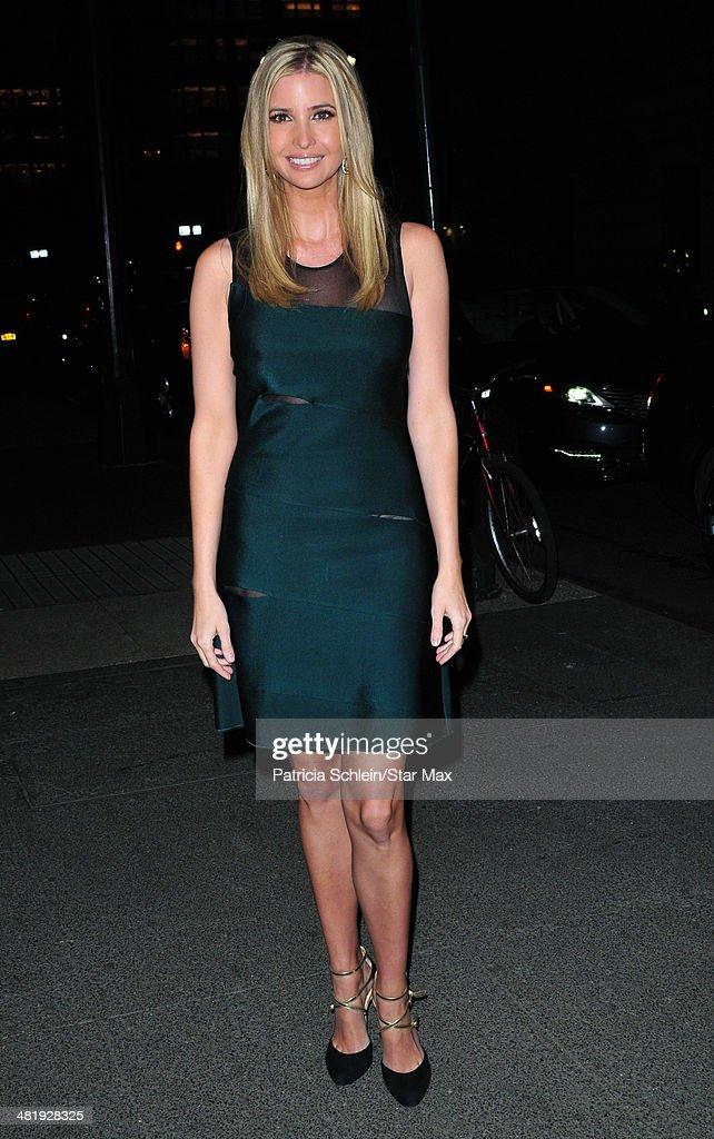 Ivanka Trump is seen on April 1, 2014 in New York City.