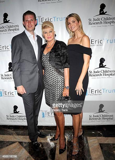 Ivanka Trump Ivana Trump and Eric Trump attend the 8th Annual Eric Trump Golf Tournament at Trump National Golf Club Westchester on September 15 2014...