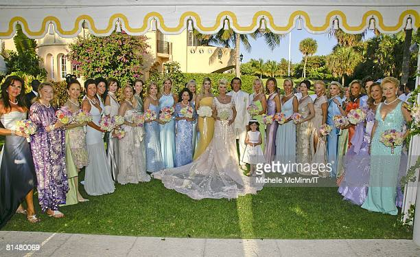 RATES Ivanka Trump Ivana Trump and Rossano Rubicondi with the bridesmaids after the wedding of Ivana Trump and Rossano Rubicondi at the MaraLago Club...