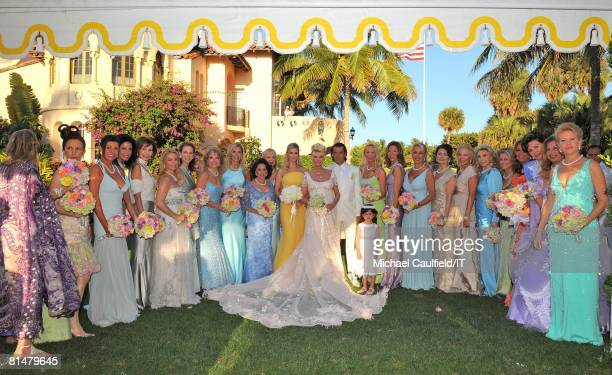 Ivanka Trump Ivana Trump Rossano Rubicondi pose with the bridesmaids after the wedding of Ivana Trump and Rossano Rubicondi at the MaraLago Club on...