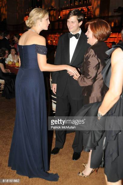 Ivanka Trump Jared Kushner and Christine Quinn attend The 2010 LIBRARY LIONS GALA at The New York Public Library on November 1 2010 in New York City