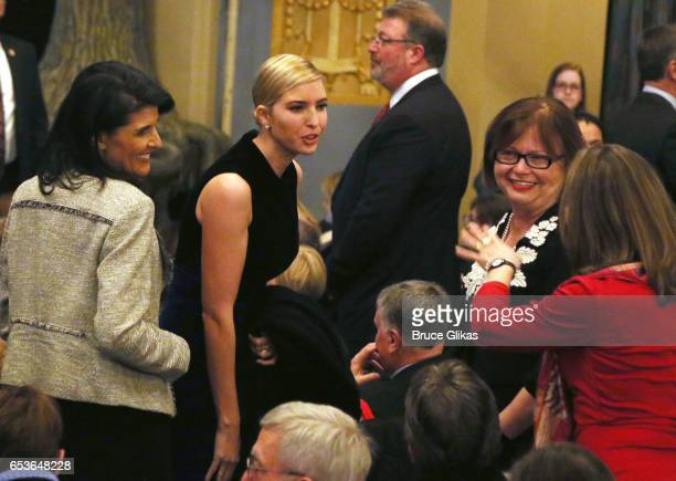 Ivanka Trump Kushner attends the hit musical 'Come from Away' on Broadway at The Schoenfeld Theatre on March 15 2017 in New York City